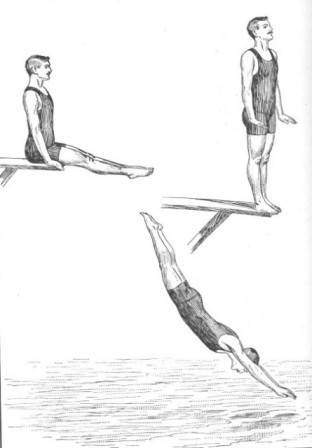 THE STANDING-SITTING DIVE